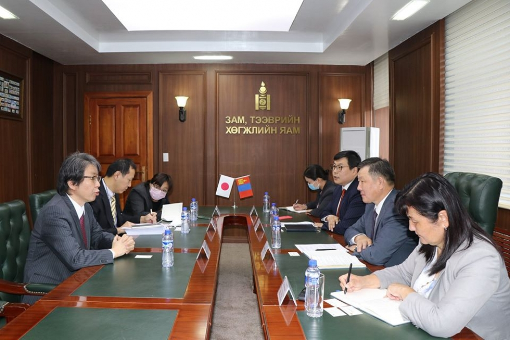 Minister of Road and Transport Development of Mongolia Mr. Khaltar Luvsan met with Ambassador Extraordinary and Plenipotentiary of Japan to Mongolia Mr. Kobayashi Hiroyuki