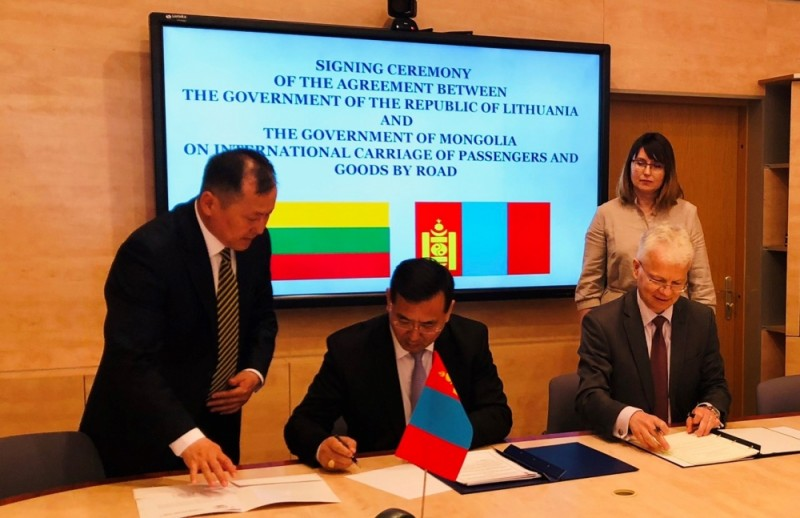 MONGOLIA AND LITHUANIA SIGN INTERGOVERNMENTAL  AGREEMENT ON ROAD TRANSPORT